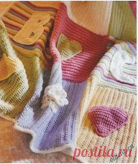 Пестрое одеяло для ребенка   Отлично! Школа моды, декора и актуального рукоделия
