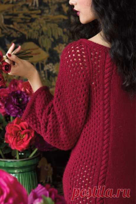 Вязание платья Rose Motif, модель 12, Vogue Holiday 2012 - Вяжи.ру