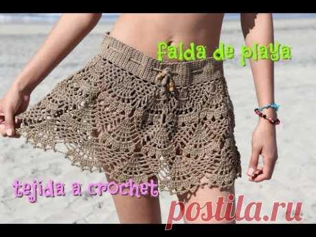 f57682dc73 (85) falda Tejida a Crochet - YouTube