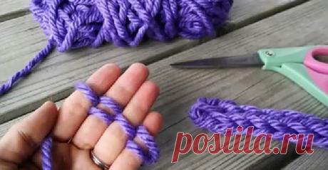 Вязание руками без спиц и крючка для начинающих