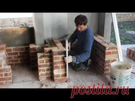1 часть.Мангал из кирпича ручной формовки(Пригород)