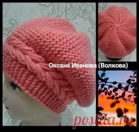 Beretik very nice takes cross knitting by spokes. Work of the skilled worker Oksana Volkova\/Ivanova\/. The beret is connected by platochny knitting across with addition of a pattern * Kolosok*. It it is possible