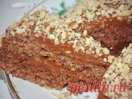 Ореховый диетический тортик с шоколадным кремом — vkusno.co