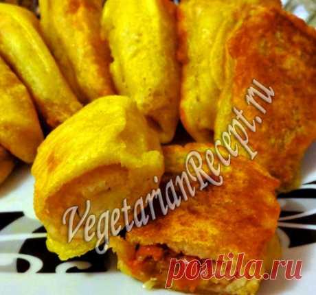 Блинчики в кляре с начинкой из картофеля и капусты | Вегетарианские рецепты «Приготовим с любовью!»