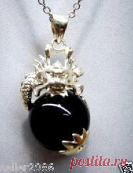 Красивая дракон черный нефрит ожерелье купить на AliExpress