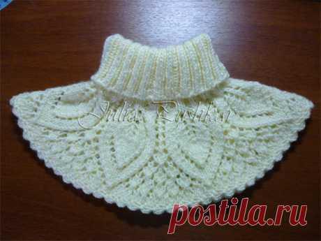Вязание-спицы Шали+шапки+шарфы >Манишка