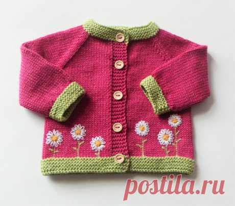Flower cardigan flower sweater pink cardigan baby girl | Etsy