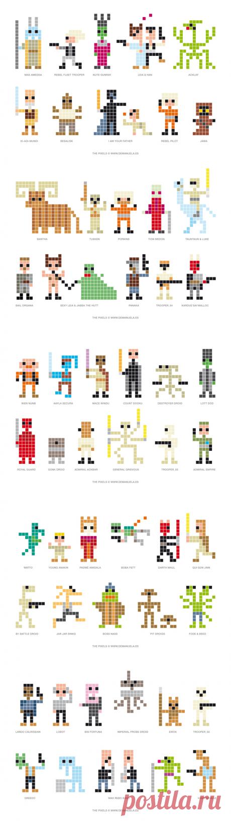 demanuela comunicación visual - Star Wars Pixels