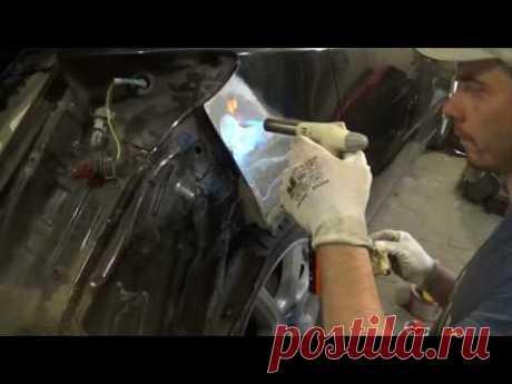 Кузовной Ремонт. Наплавка оловом. body repair of tin