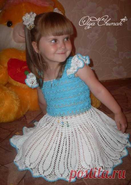 Платье для девочки Ольги Чумак.  Фото+схемы.