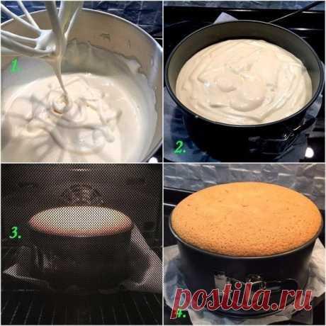 Как приготовить бисквит классический. - рецепт, ингредиенты и фотографии