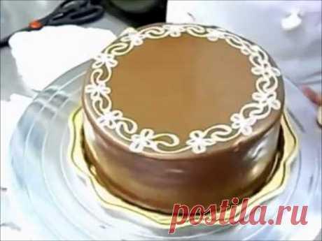 Потрясающее украшение праздничного торта за 5 минут (как украсить торт на день рождения)