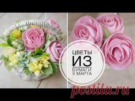 Нежная цветочная композиция на 8 МАРТА / DIY TSVORIC