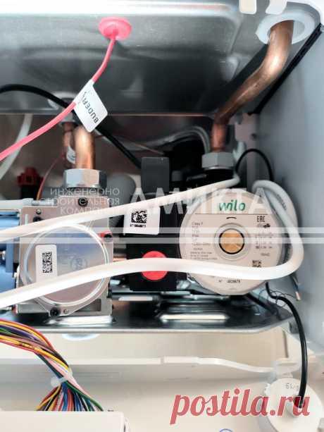 Внутреннее наполнение газового котла Logamax U072-18, проверка перед установкой. Узнать цену на установку котлов тут - https://amikta.ru/otoplenie/ustanovka-kotlov-otopleniya/