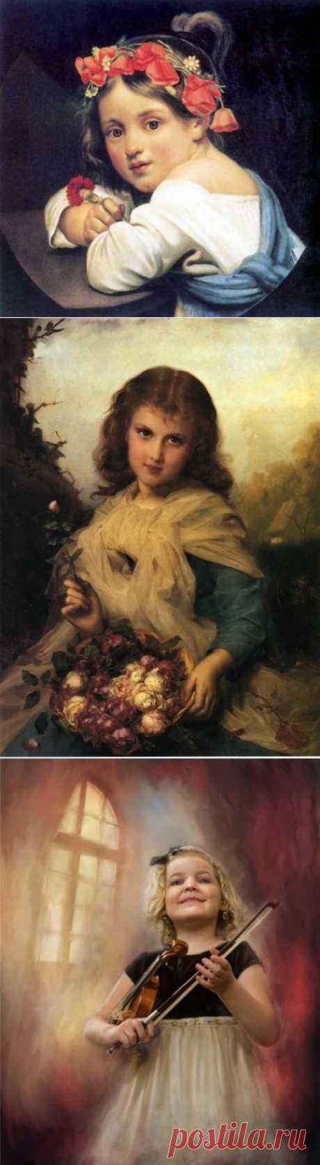 Детский портрет в живописи.