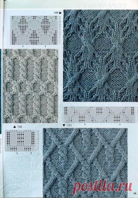 Замысловатые араны спицами, 20 схем | Повязушки лайф | Яндекс Дзен