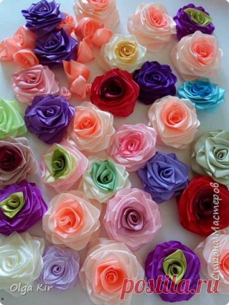 Розы из лент своими руками: МК+секреты изготовления