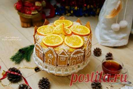 Апельсиновый новогодний торт — Вкусные рецепты