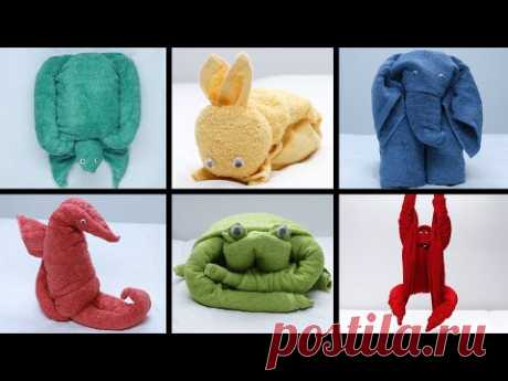 How To Make The Cutest Napkin And Towel Animals - YouTube