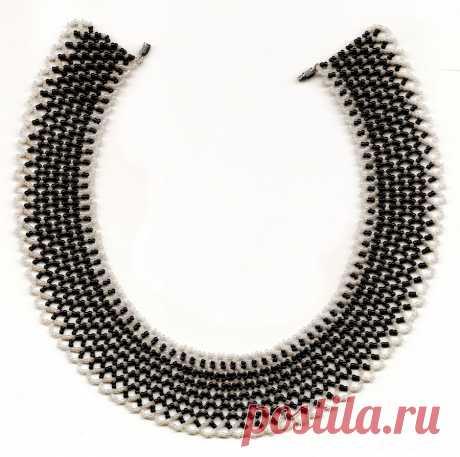 Королевское ожерелье из бисера