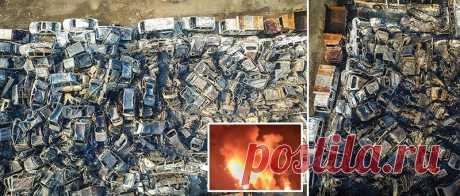 Mil de coches eran ardidos en la parada en China | por el Diablo toma