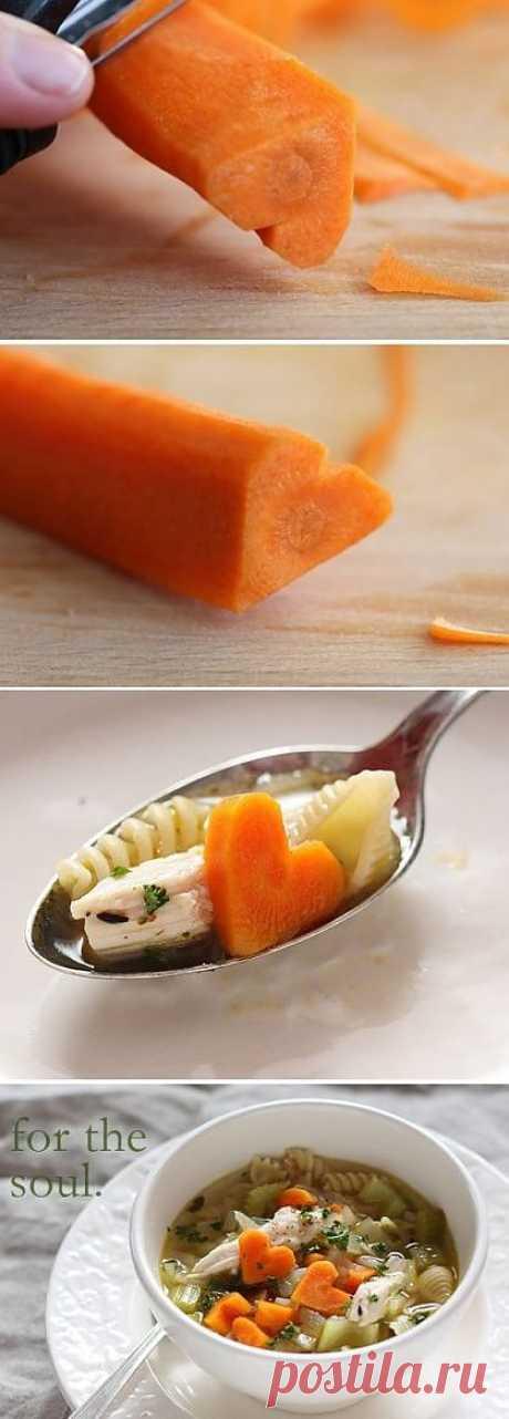 Как красиво нарезать морковку