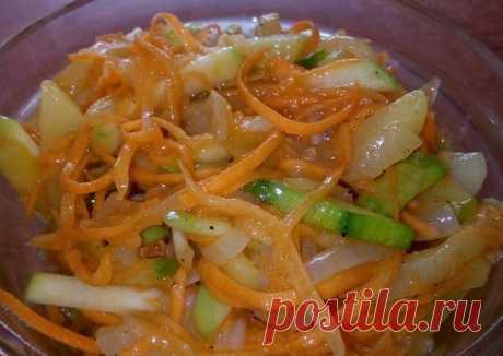 Острый салат из кабачка и морковки - пошаговый рецепт с фото. Автор рецепта Оксана Нарыжная . - Cookpad