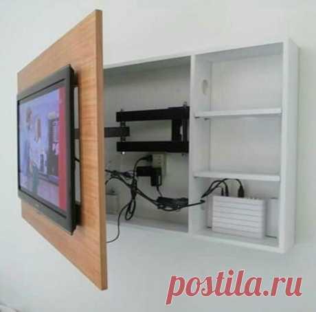Оригинальные идеи для установки телевизора — Сделай сам, идеи для творчества - DIY Ideas