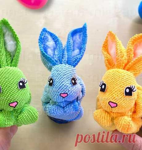 Как сделать кролика из текстильной салфетки