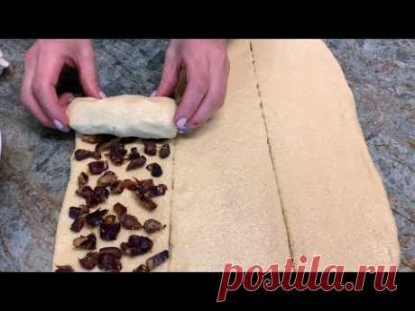 Эту начинку ем каждое утро/Необыкновенно вкусное печенье/Тесто из манки👌  Cookies with dates