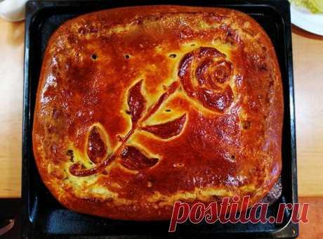 Закрытый пирог с молодой капустой и куриной грудкой | Мозаика жизни | Яндекс Дзен