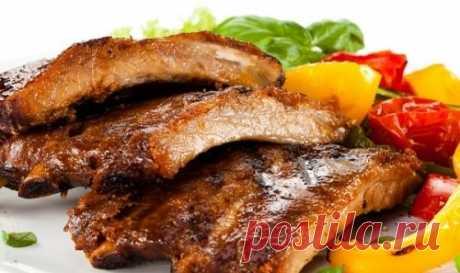 Свиные ребрышки на сковороде - 10 простых рецептов (с фото)