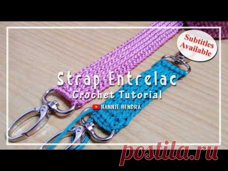 Crochet || Merajut Tali Entrelac - Bag Strap [Subtitles Available]