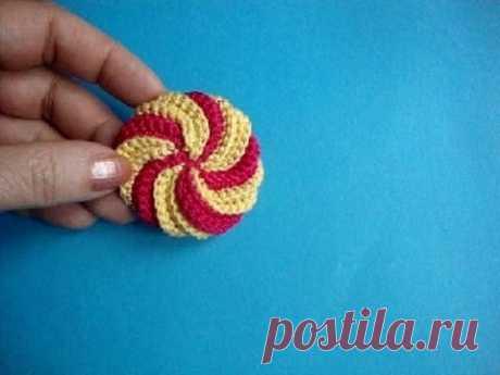 Спиральный элемент Вязание крючком Урок302 Crochet spiral