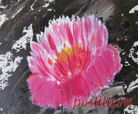 Pion Ölgemälde Original Kunst Floral Ölgemälde Blume Kunstwerk   Etsy
