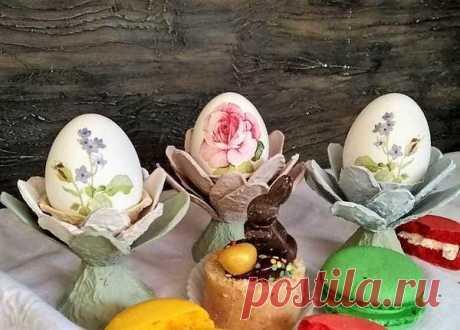 Пасхальная подставка для яиц своими руками