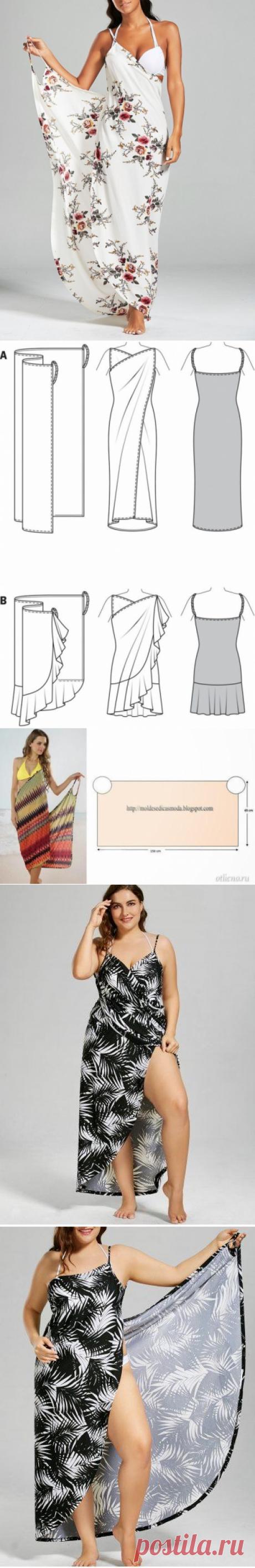 Моделирование простейшего пляжного платья — Сделай сам, идеи для творчества - DIY Ideas