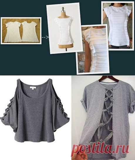 как сделать футболку - жалюзи