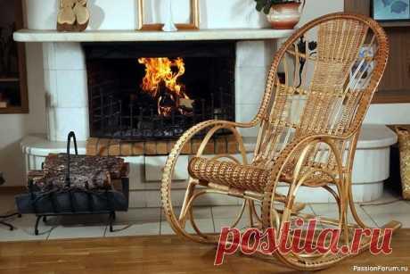 Кресло-качалка из ивовой лозы   Интересные идеи для вдохновения