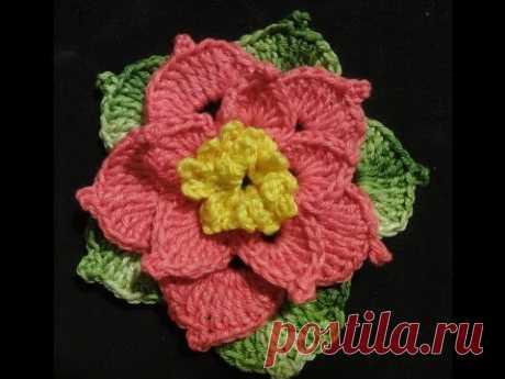Объёмный цветок Вязание крючком Volumetric Flower Crocheting