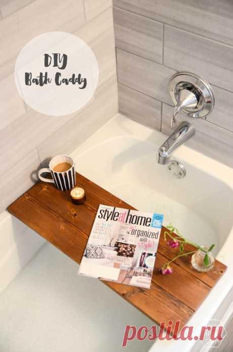 DIY Wooden Bath Caddy - Lemon Thistle