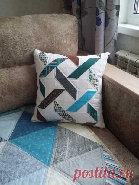 Лоскутная подушка Плетенка   Пикабу