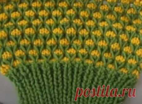 Красивый узор «Цветочная поляна» - легко и просто! | Вераша - о вязании в деталях | Яндекс Дзен