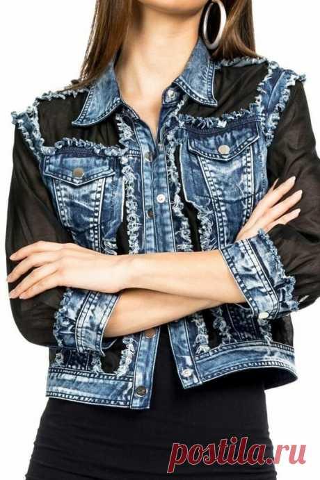 5 идей переделки джинсовой куртки. Получится дизайнерская вещь | Провинциалка в теме | Яндекс Дзен