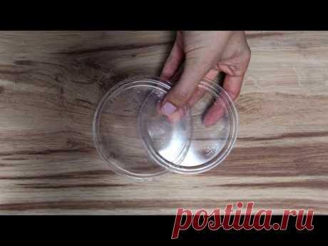 Идеи из пластиковых крышек от сметаны на новый год своими руками