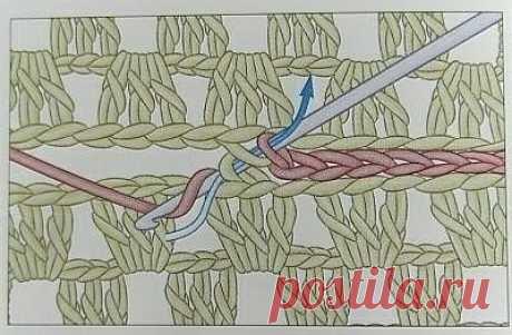 Способы соединения вязаных деталей коючком