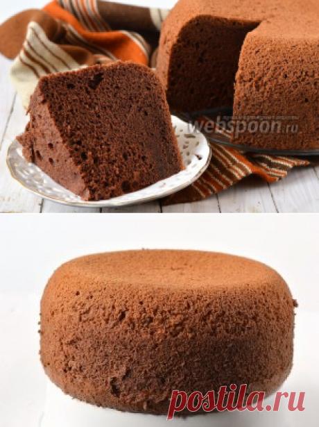 Шоколадный шифоновый бисквит в мультиварке рецепт с фото на Webspoon.ru