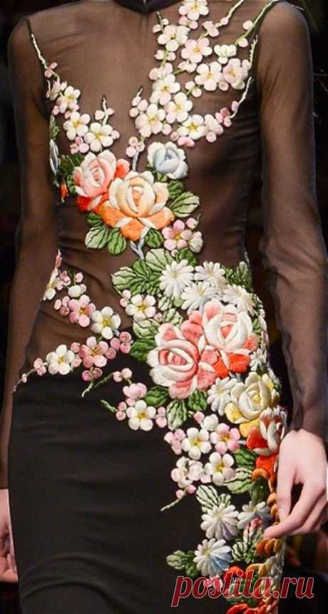 Самая интересная и красивая вышивка на одежде