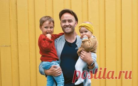 В Норвегии отцам дается 15 недель декретного отпуска. Стеффен был в декрете с двумя детьми. Иллюстрация из книги