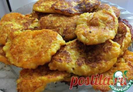 Яблочные оладьи с пшеном - кулинарный рецепт